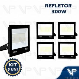 REFLETOR HOLOFOTE LED SMD   300W 6500K(BRANCO FRIO)BIVOLT IP66 KIT8