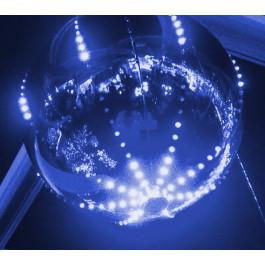 BOLA ILUMINADA COM LED DIGITAL PISCA MULTI FUNÇÕES 15cm Azul