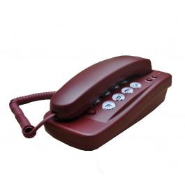 TELEFONE  KXT-608 C/ FIO ANATEL VINHO