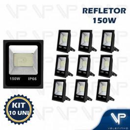REFLETOR HOLOFOTE LED SMD   150W 6500K(BRANCO FRIO)BIVOLT IP66 KIT10